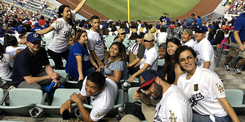 Los Angeles at Dodger game